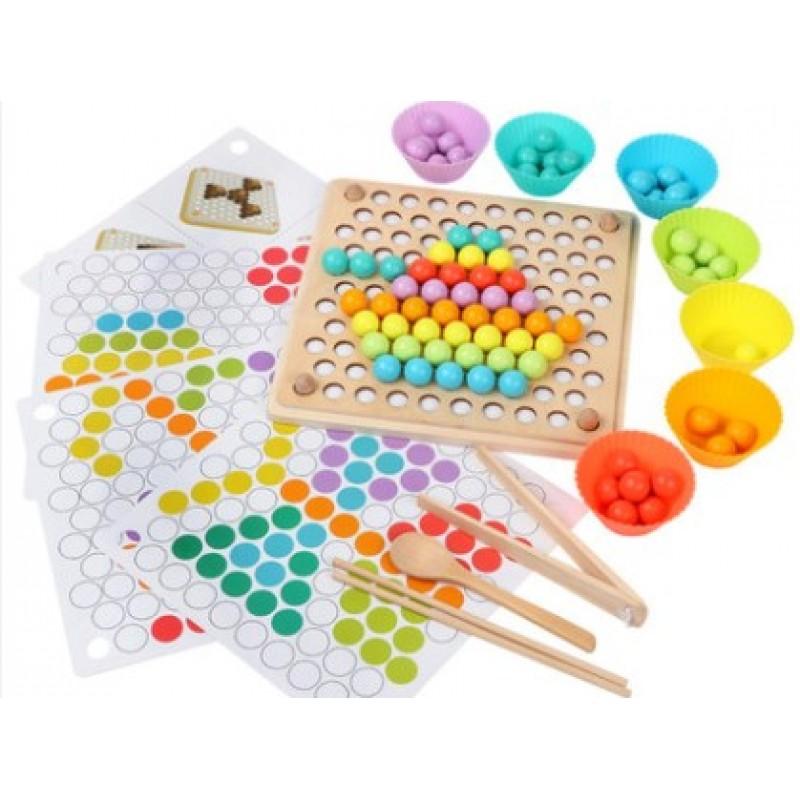 Montessori Marble Picker Board